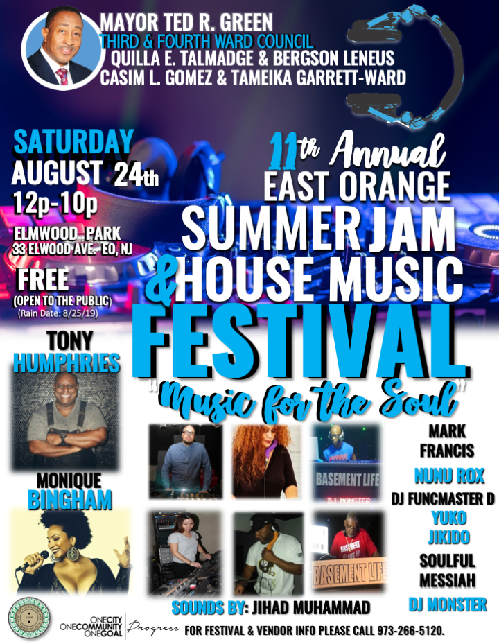 11th ANNUAL EAST ORANGE SUMMER JAM  HOUSE MUSIC FESTIVAL