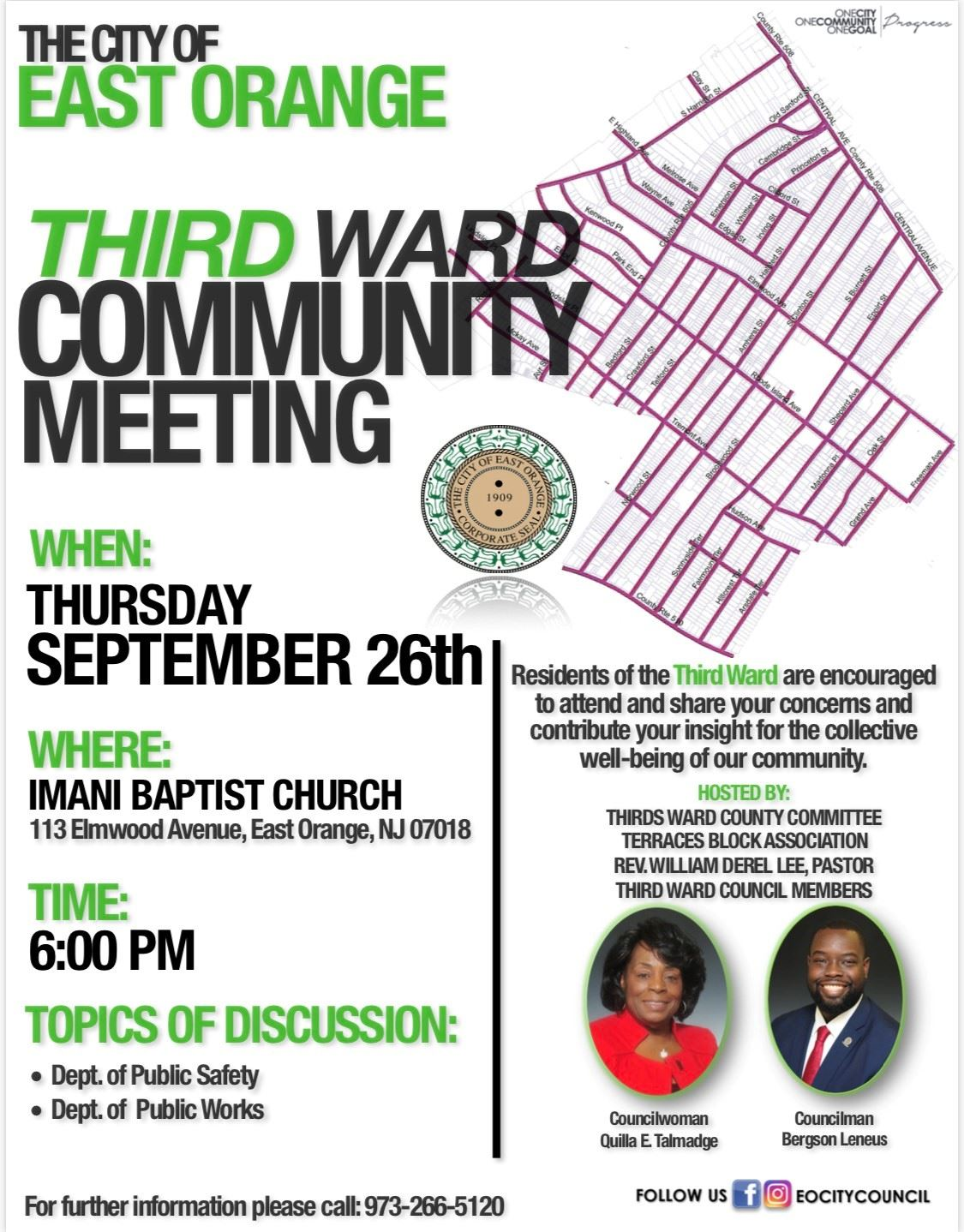 third ward community meeting