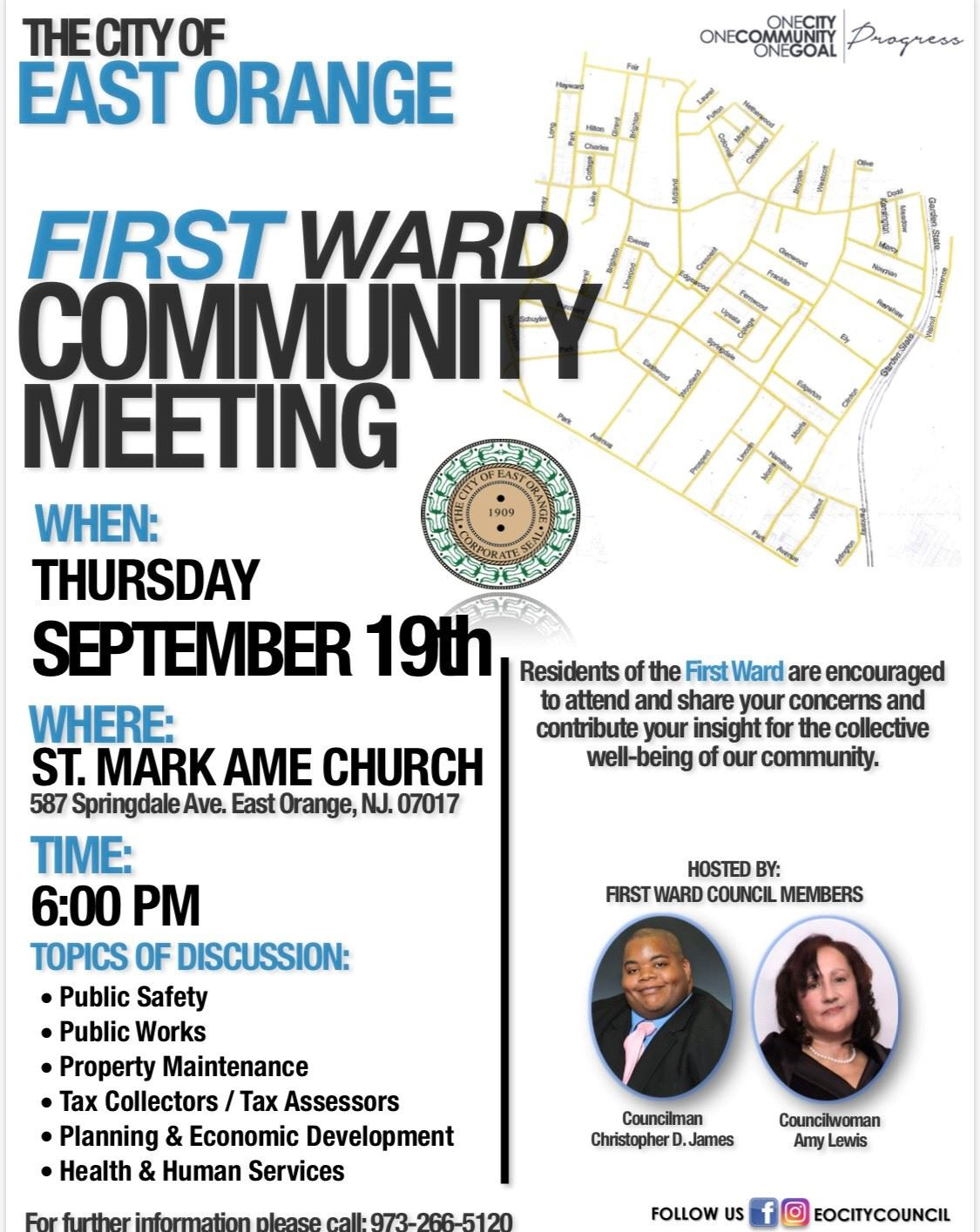 first ward community meeting
